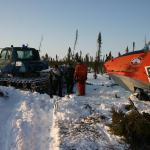 April 2008 - moving across the tundra near Inuvik, NT